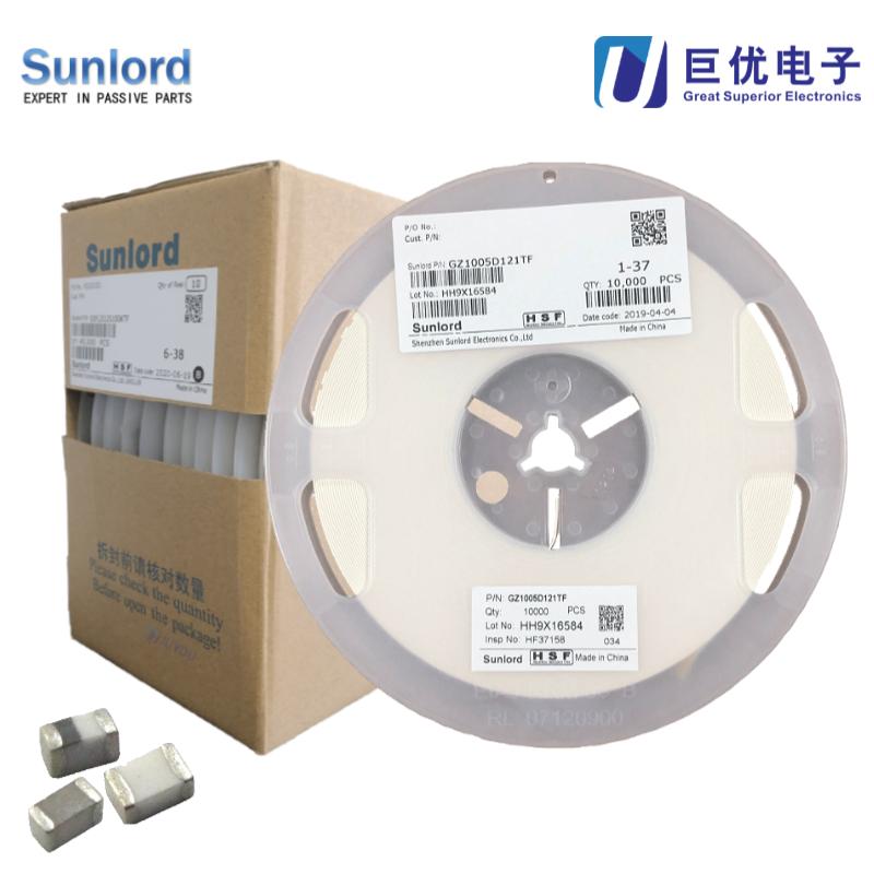 Sunlord顺络GZ3216D501TF贴片磁珠